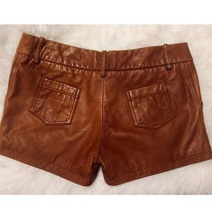 Dallin Chase Shorts - ✨DALLIN CHASE✨Brown Leather Shorts